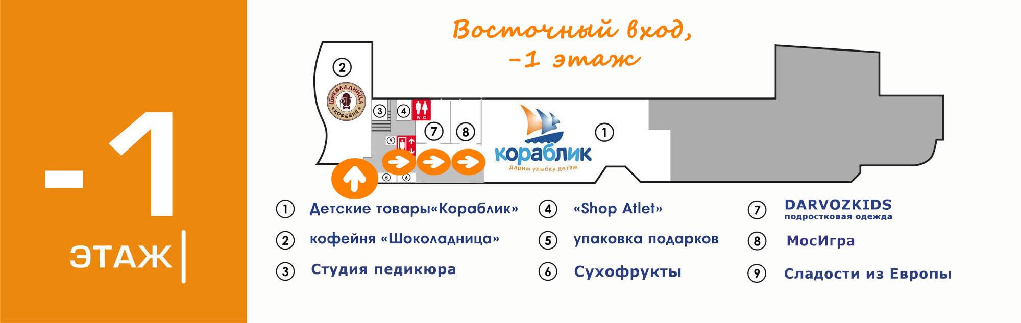 """Cупермаркет детских товаров «Кораблик» в ТРЦ """"Вертикаль"""""""