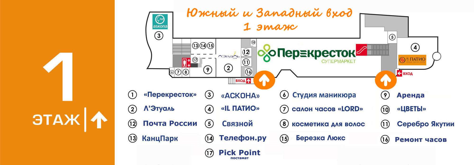 "Супермаркет Перекресток в ТРЦ ""Вертикаль"""